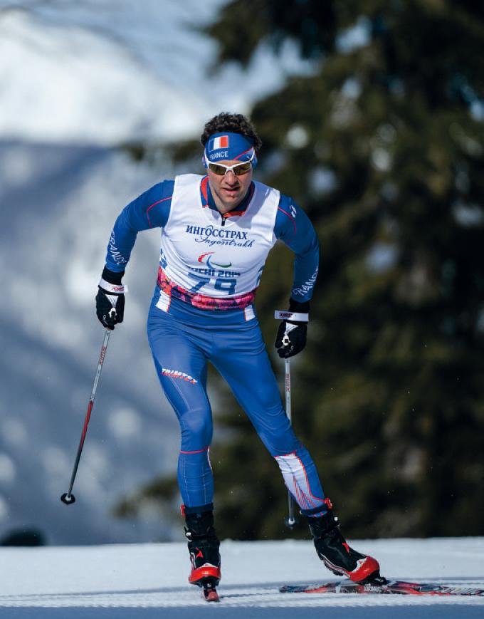 Para ski nordique - L'équipe de France - Bleu paralympique