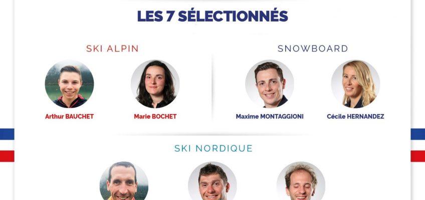 Zoom sur les sept premiers sélectionnés !