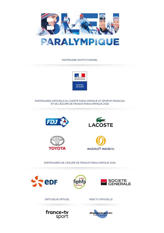 Les Partenaires de la Délégation Française PyeongChang 2018